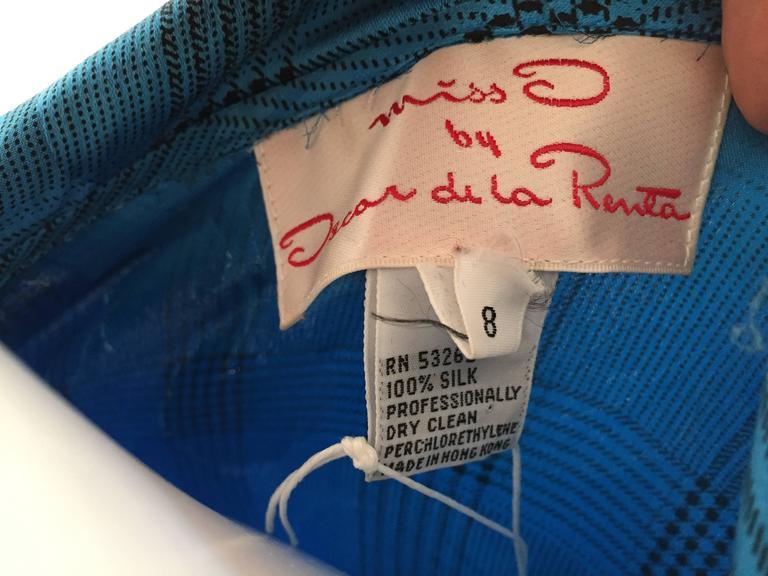 Oscar de la Renta 80s silk blouse & skirt size 4. For Sale 4