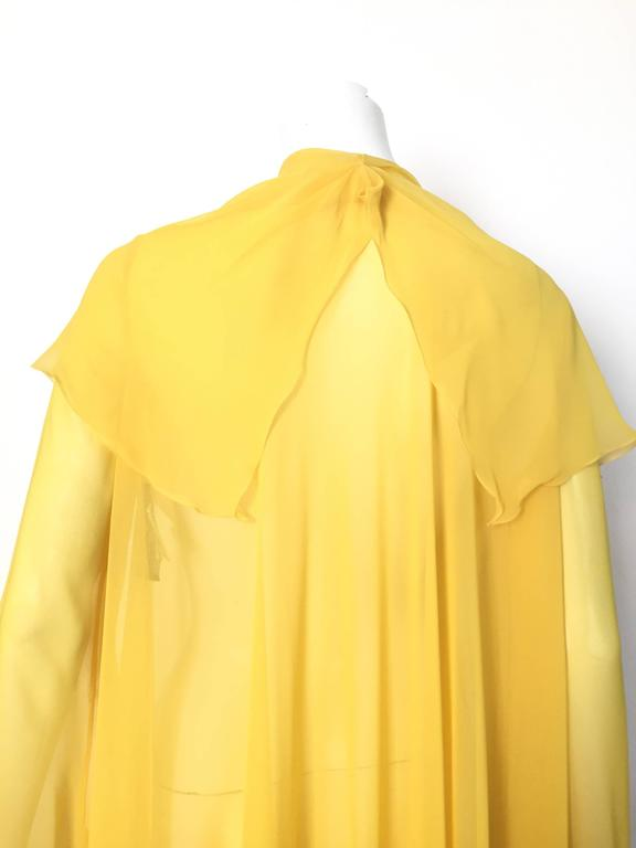 Loris Azzaro Yellow Silk Sheer Jacket Size 2 / 4. 4