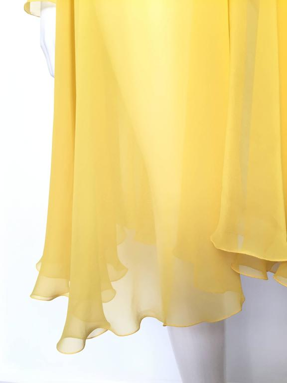 Loris Azzaro Yellow Silk Sheer Jacket Size 2 / 4. 8