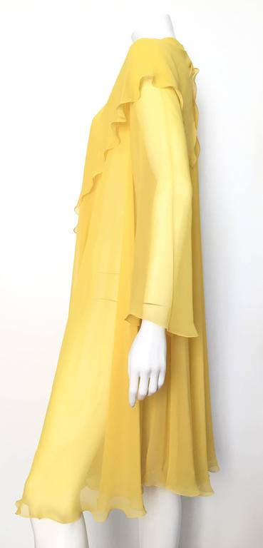 Loris Azzaro Yellow Silk Sheer Jacket Size 2 / 4. 2