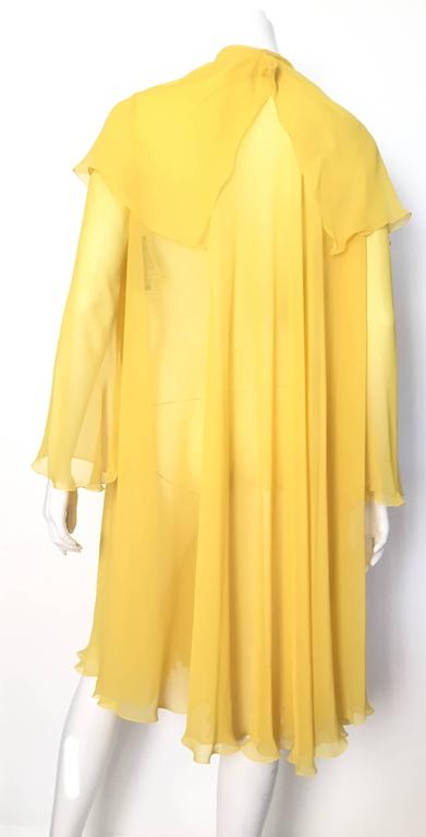 Loris Azzaro Yellow Silk Sheer Jacket Size 2 / 4. 3