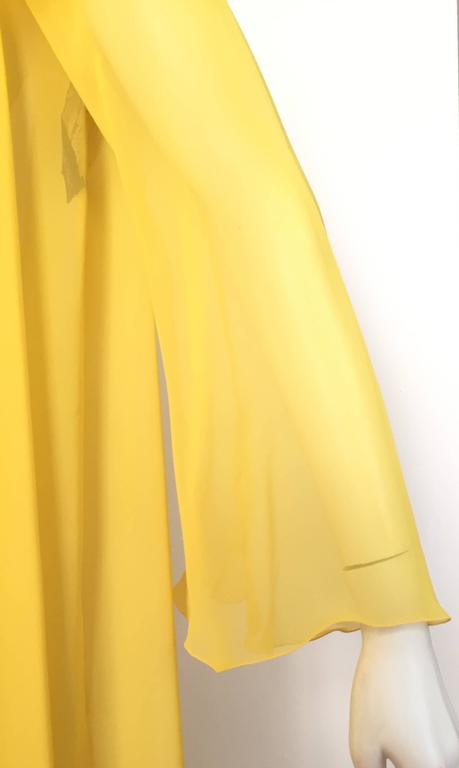 Loris Azzaro Yellow Silk Sheer Jacket Size 2 / 4. 5