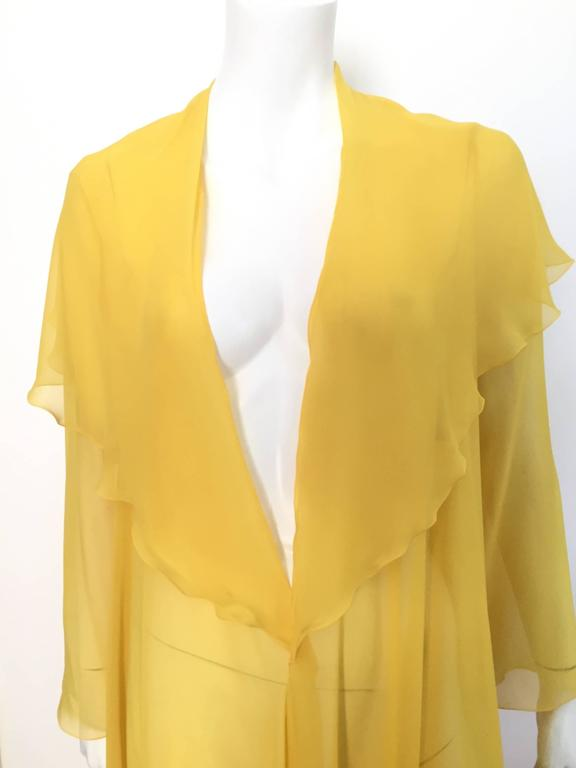 Loris Azzaro Yellow Silk Sheer Jacket Size 2 / 4. 6