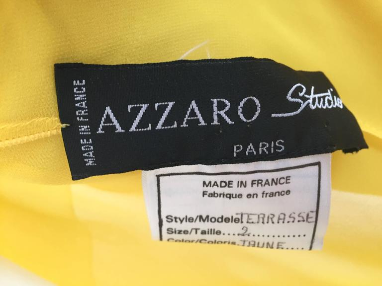 Loris Azzaro Yellow Silk Sheer Jacket Size 2 / 4. 9