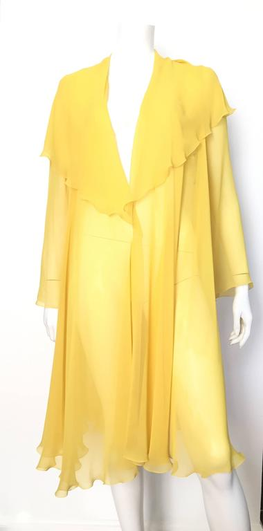 Loris Azzaro Yellow Silk Sheer Jacket Size 2 / 4. 10