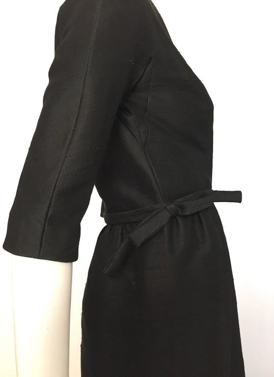 Paul Parnes 50s Silk Black Dress Size 6 For Sale At 1stdibs