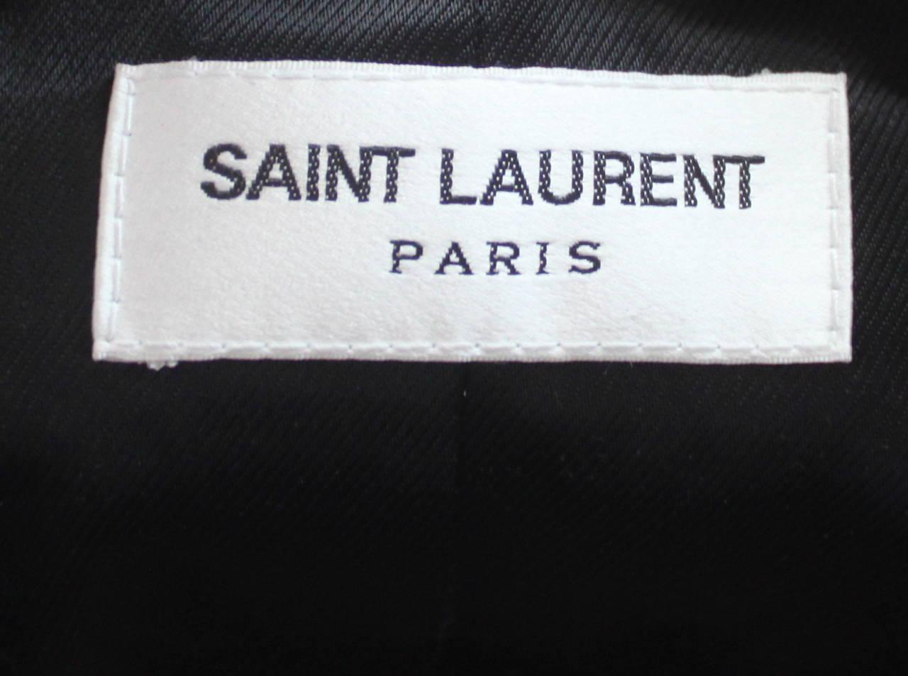 HEDI SLIMANE for SAINT LAURENT  black leather runway leather jacket - NEW 3