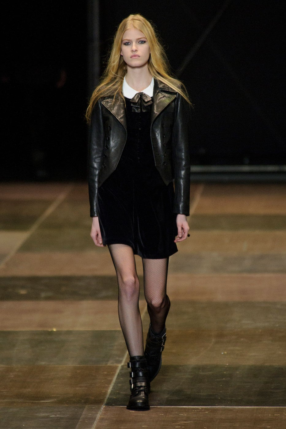 HEDI SLIMANE for SAINT LAURENT  black leather runway leather jacket - NEW 4