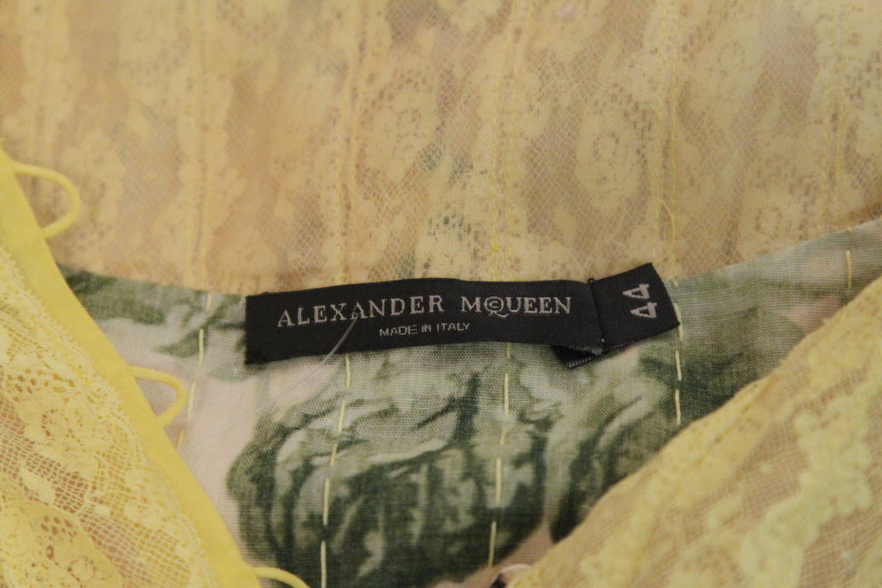 Women's ALEXANDER MCQUEEN 'It Is Only A Game' runway dress - Spring 2005 For Sale