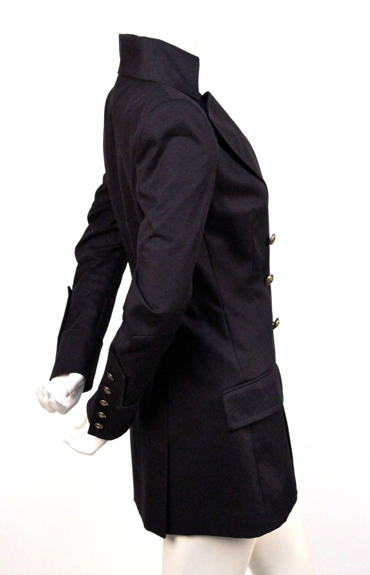 new BALMAIN navy blue tailored blazer jacket  2