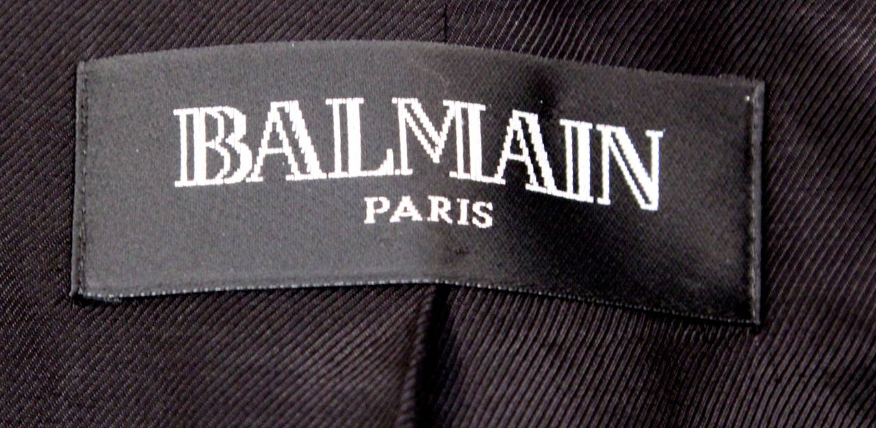 BALMAIN navy blue tailored blazer jacket - NEW 4
