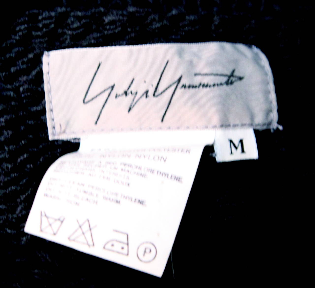 1990's YOHJI YAMAMOTO black open knit sweater dress 4