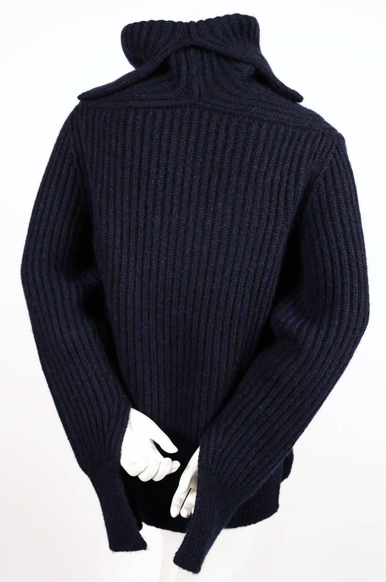 CELINE by Phoebe Philo cashmere and mohair sweater with split neck & sleeves In Good Condition For Sale In San Francisco, CA