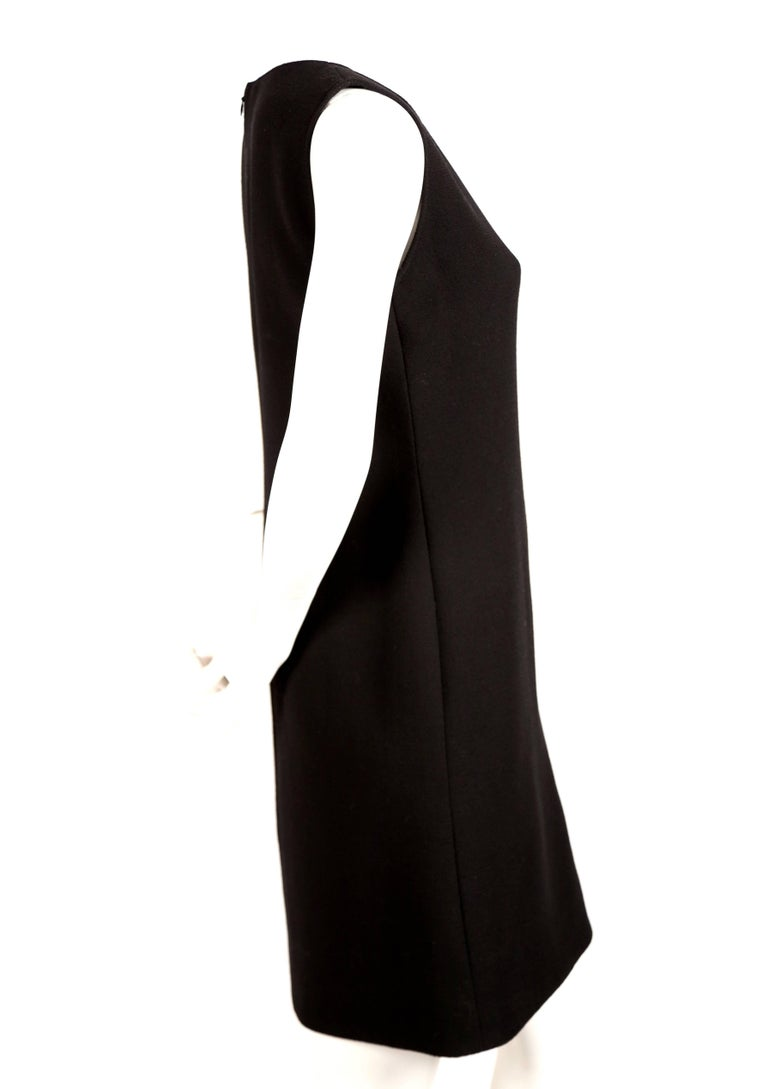 Pierre Cardin haute couture wool dress with circular cut outs, 1970s  In Excellent Condition For Sale In San Fransisco, CA