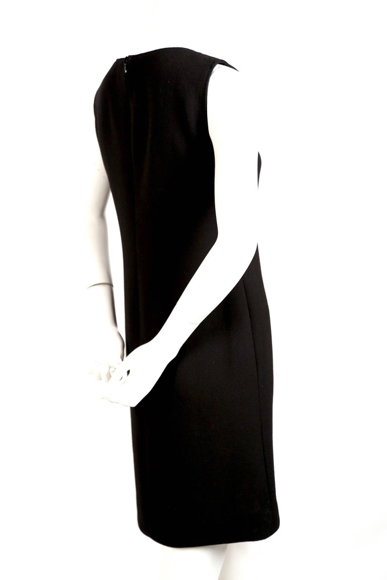 Women's or Men's Pierre Cardin haute couture wool dress with circular cut outs, 1970s  For Sale