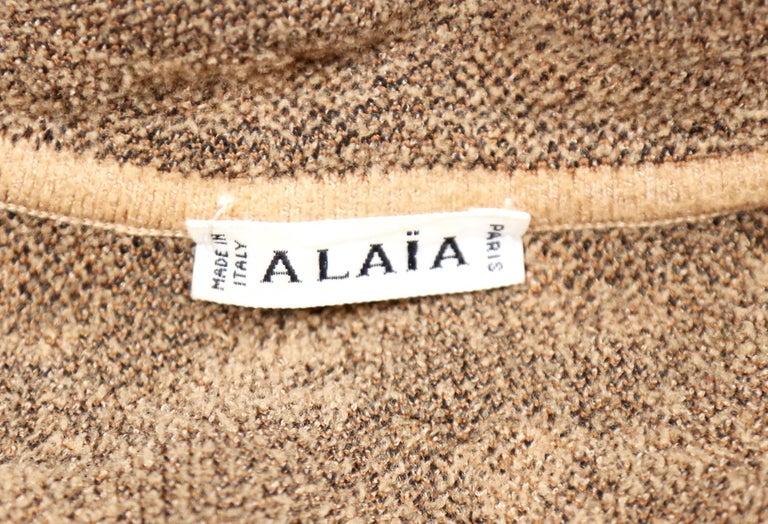 Women's or Men's Azzedine Alaia oversized leopard V-neck tunic dress, 1991  For Sale