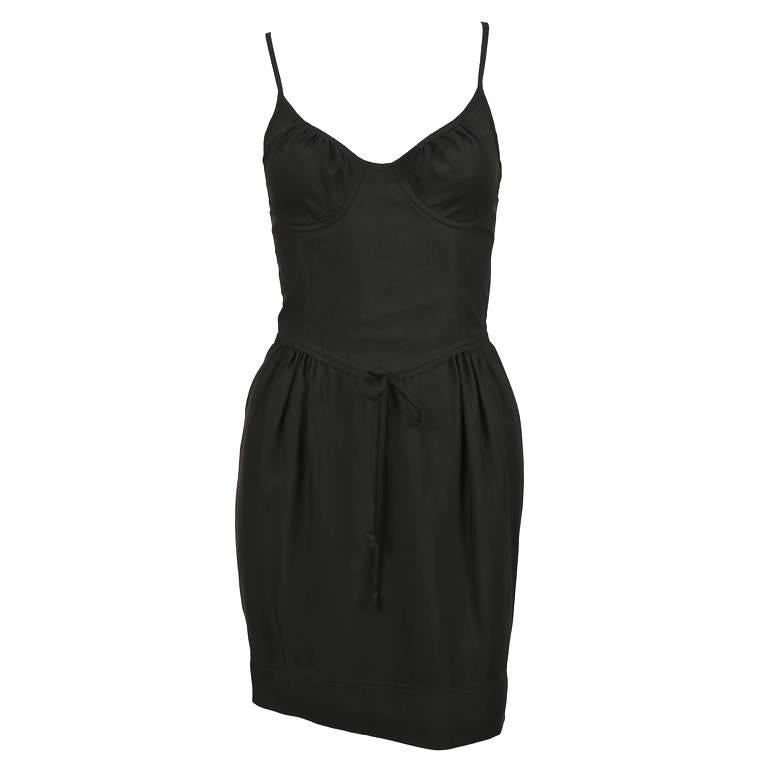 1990's CHEAP AND CHIC by MOSCHINO black bustier minidress