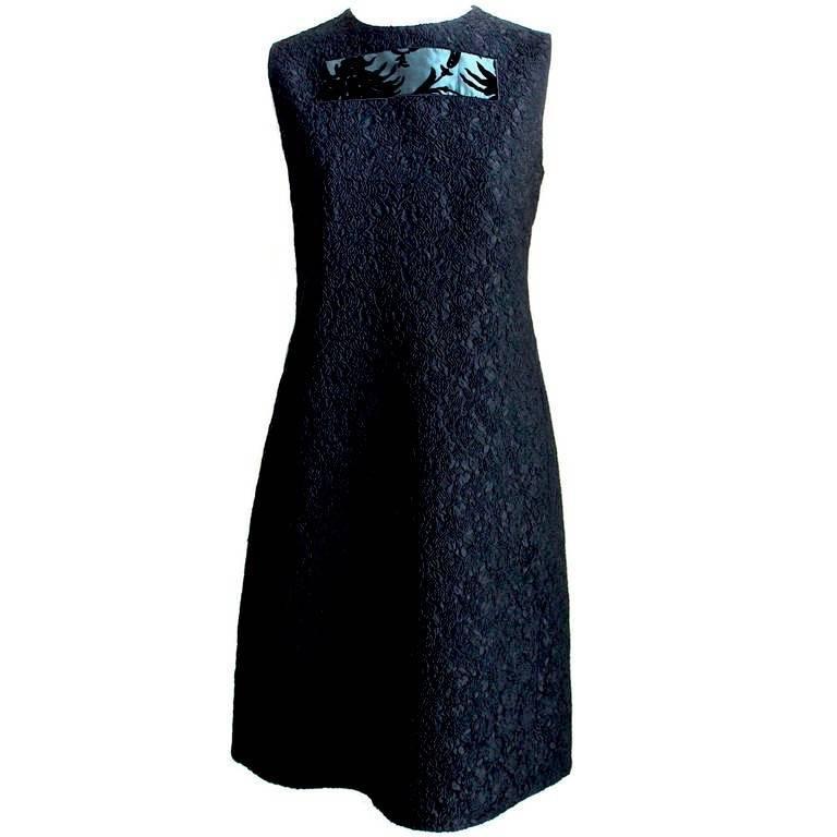 Moschino cheap and chic brocade dress, 1990s
