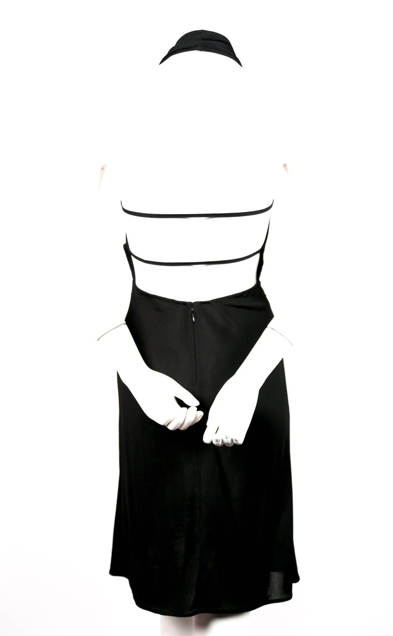 Azzedine Alaia black halter dress with open back, 1990s  For Sale 1