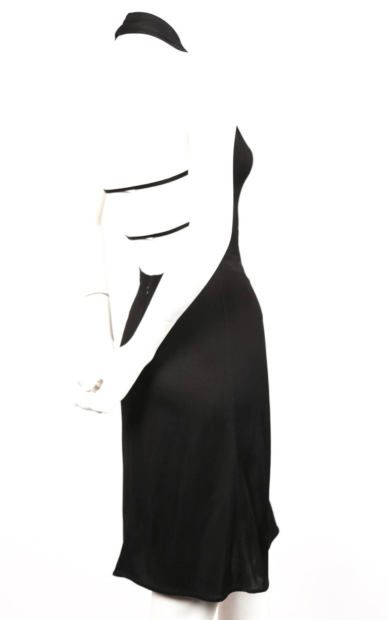 Azzedine Alaia black halter dress with open back, 1990s  In Good Condition For Sale In San Fransisco, CA