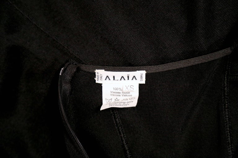Azzedine Alaia black halter dress with open back, 1990s  For Sale 2