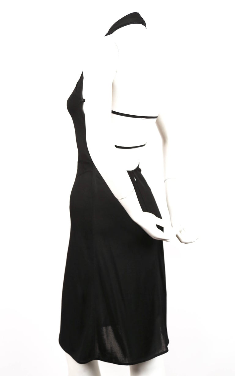 Black Azzedine Alaia black halter dress with open back, 1990s  For Sale