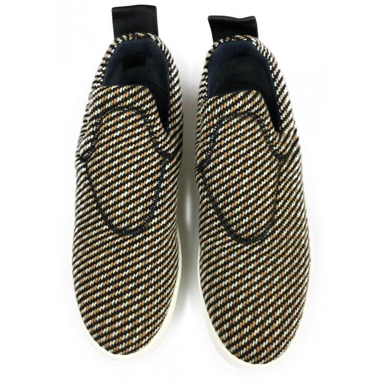 Beige CELINE by  PHOEBE PHILO tweed skater shoes - 40 - new For Sale