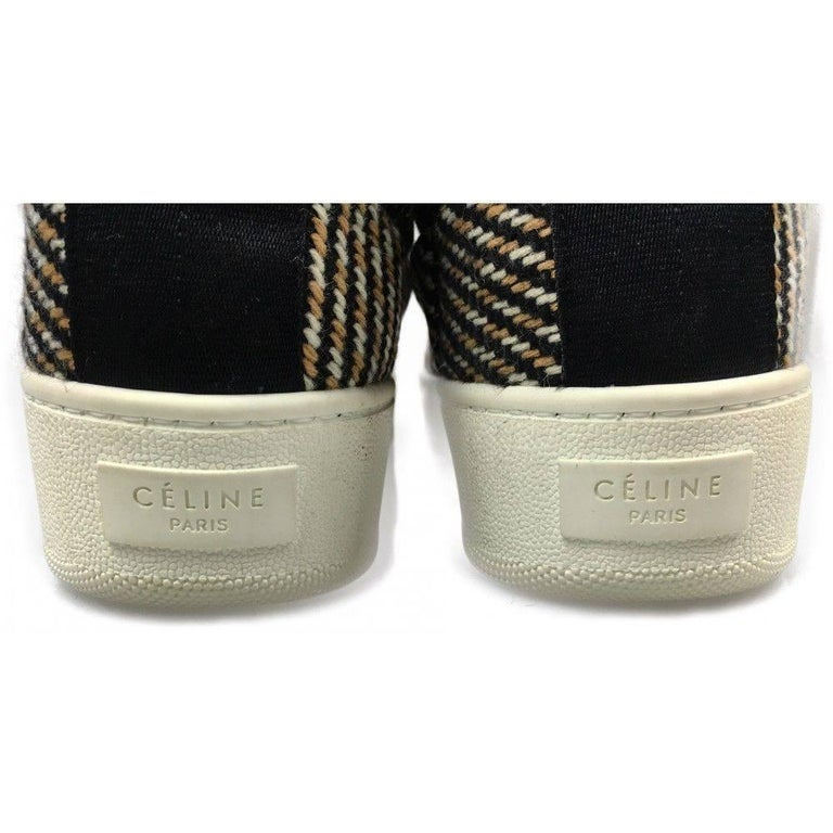 CELINE by  PHOEBE PHILO tweed skater shoes - 40 - new For Sale 1