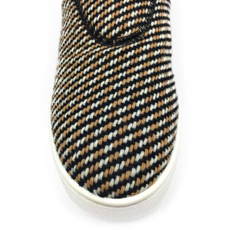 CELINE by  PHOEBE PHILO tweed skater shoes - 41 - new In New Condition For Sale In San Fransisco, CA