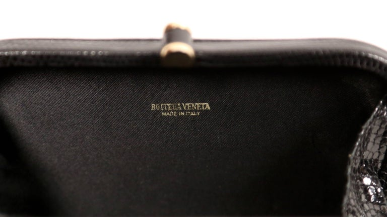 Bottega Veneta karung lizard clutch bag, 1980s  For Sale 2