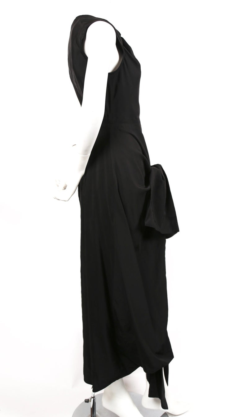 Black Celine By Phoebe Philo black dress with ties and cut out back  For Sale