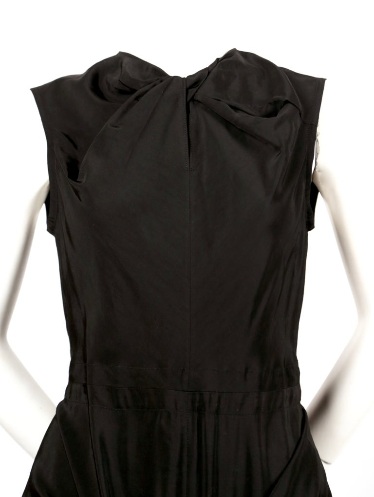 Celine By Phoebe Philo black dress with ties and cut out back  For Sale 2