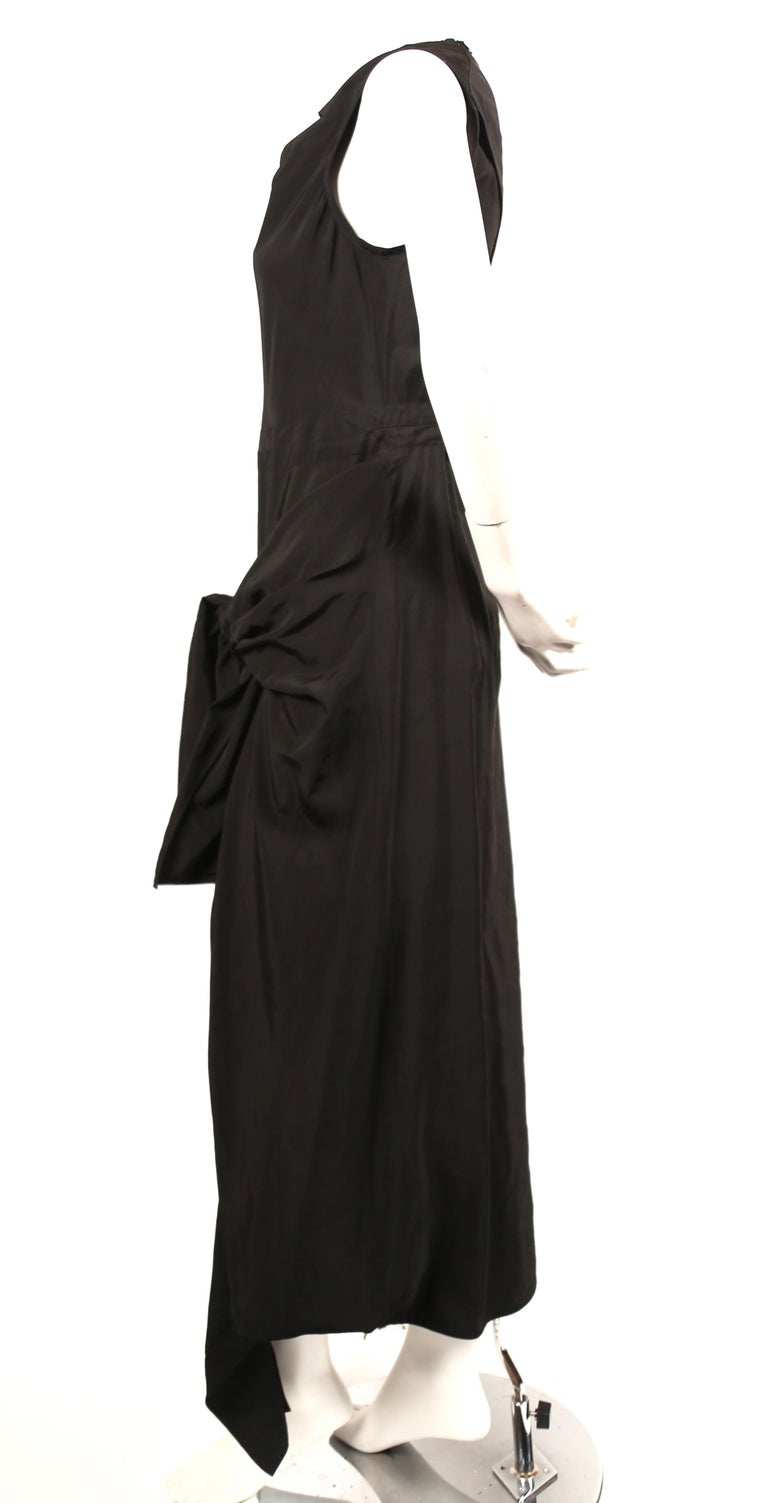 Celine By Phoebe Philo black dress with ties and cut out back  In New Condition For Sale In San Fransisco, CA