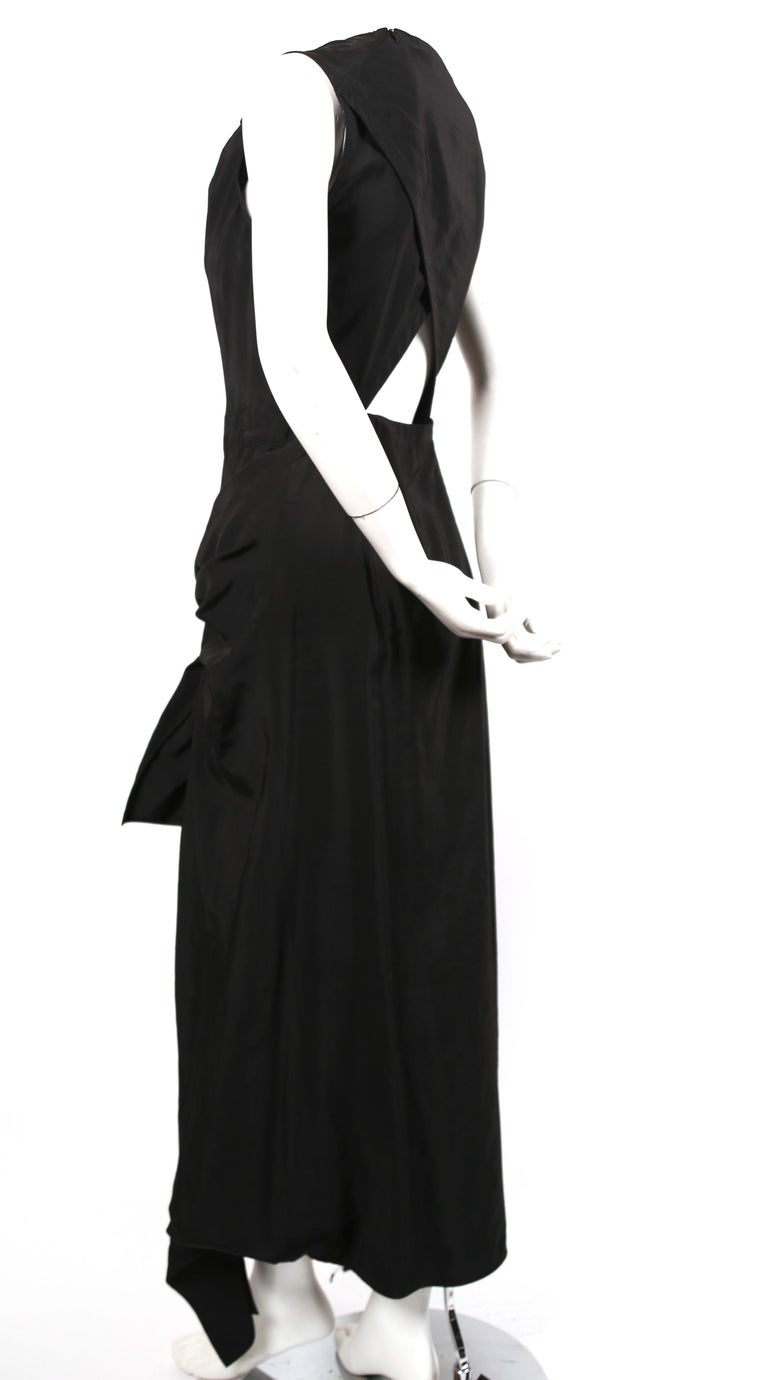 Women's or Men's Celine By Phoebe Philo black dress with ties and cut out back  For Sale