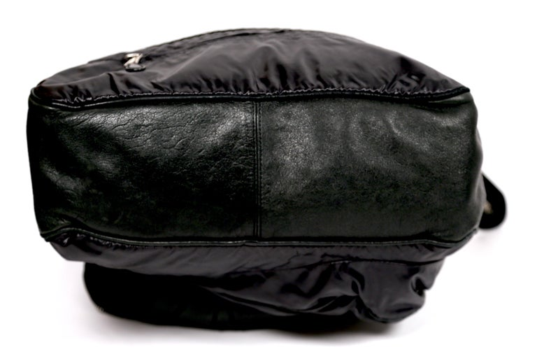 Nicolas Ghesquiere For Balenciaga Black Leather And Nylon Parachute Bag, 2003  For Sale 3
