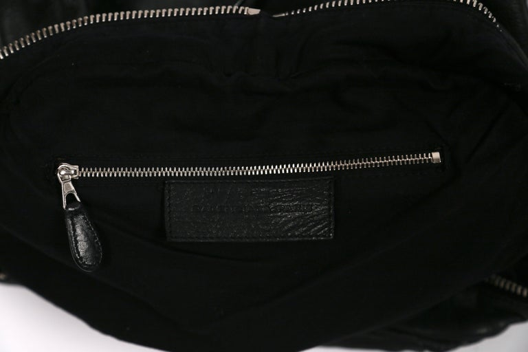 Nicolas Ghesquiere For Balenciaga Black Leather And Nylon Parachute Bag, 2003  For Sale 4