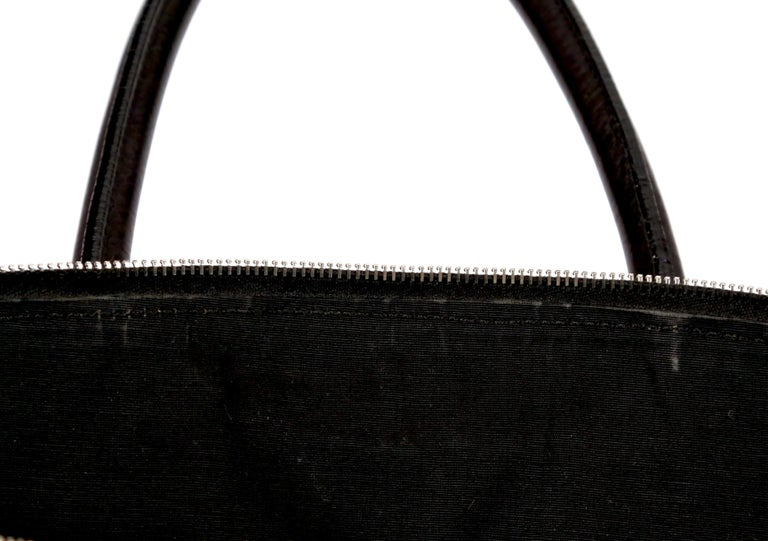 CELINE by PHOEBE PHILO black Leather Patchwork Bowling Duffle Bag   For Sale 2
