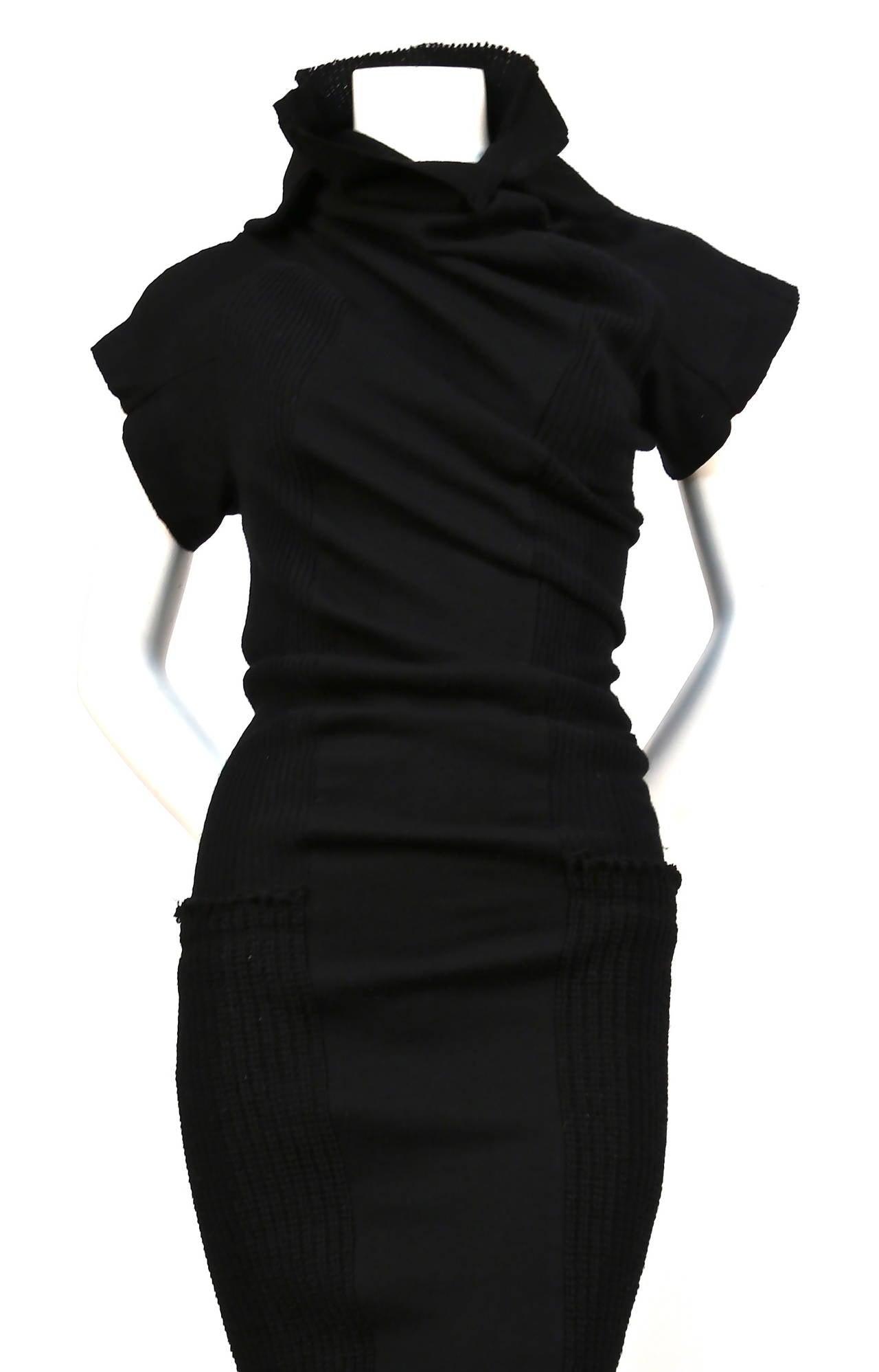 comme des garcons black twisted runway dress fall 2002 at 1stdibs. Black Bedroom Furniture Sets. Home Design Ideas