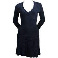 1990's AZZEDINE ALAIA black crocheted dress