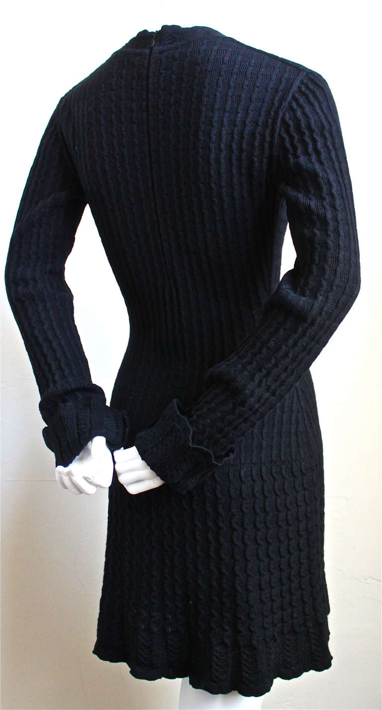 1990's AZZEDINE ALAIA black crocheted dress In Excellent Condition For Sale In San Fransisco, CA