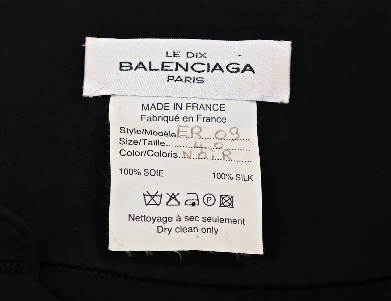 1998 BALENCIAGA 'le dix' by Nicolas Ghesquière black gown with sheer panels 4