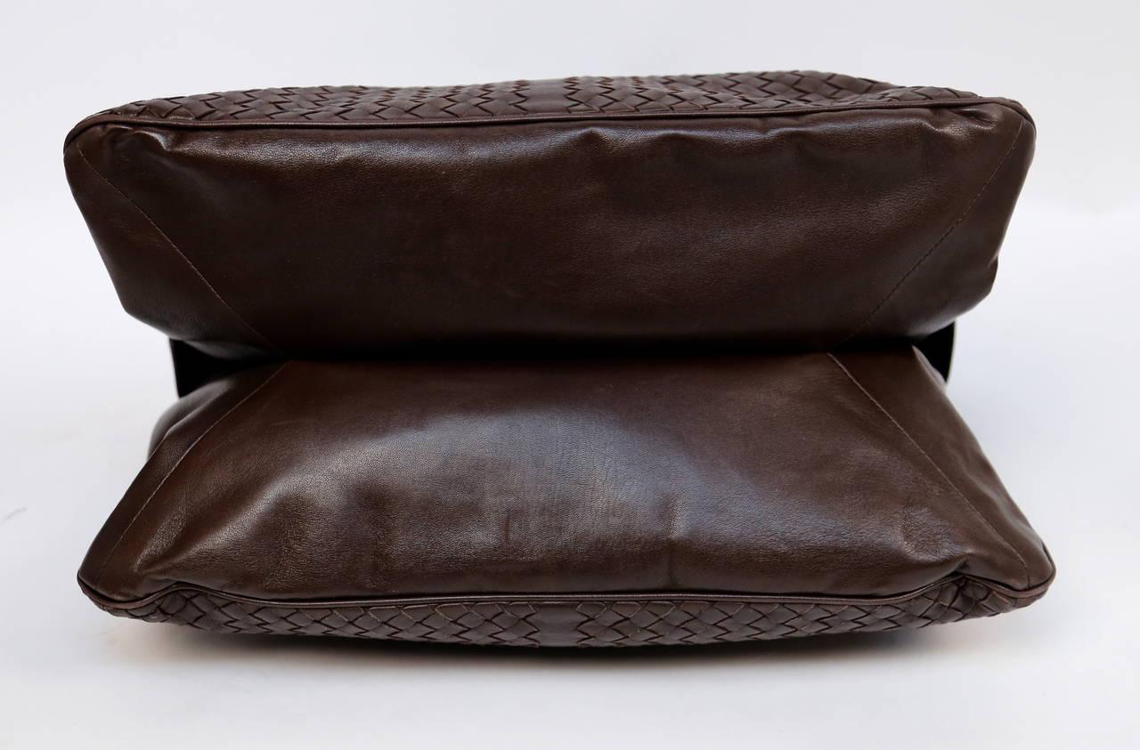 BOTTEGA VENETA oversized brown intrecciato woven leather tote bag 4