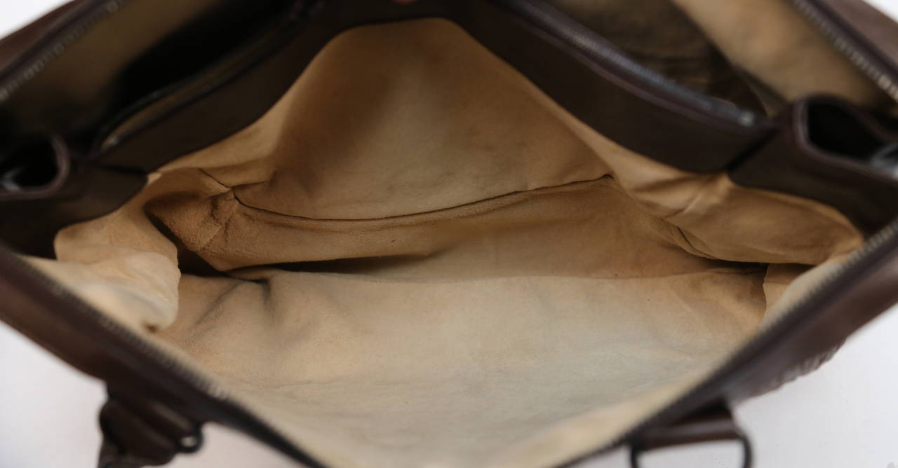 BOTTEGA VENETA oversized brown intrecciato woven leather tote bag 5
