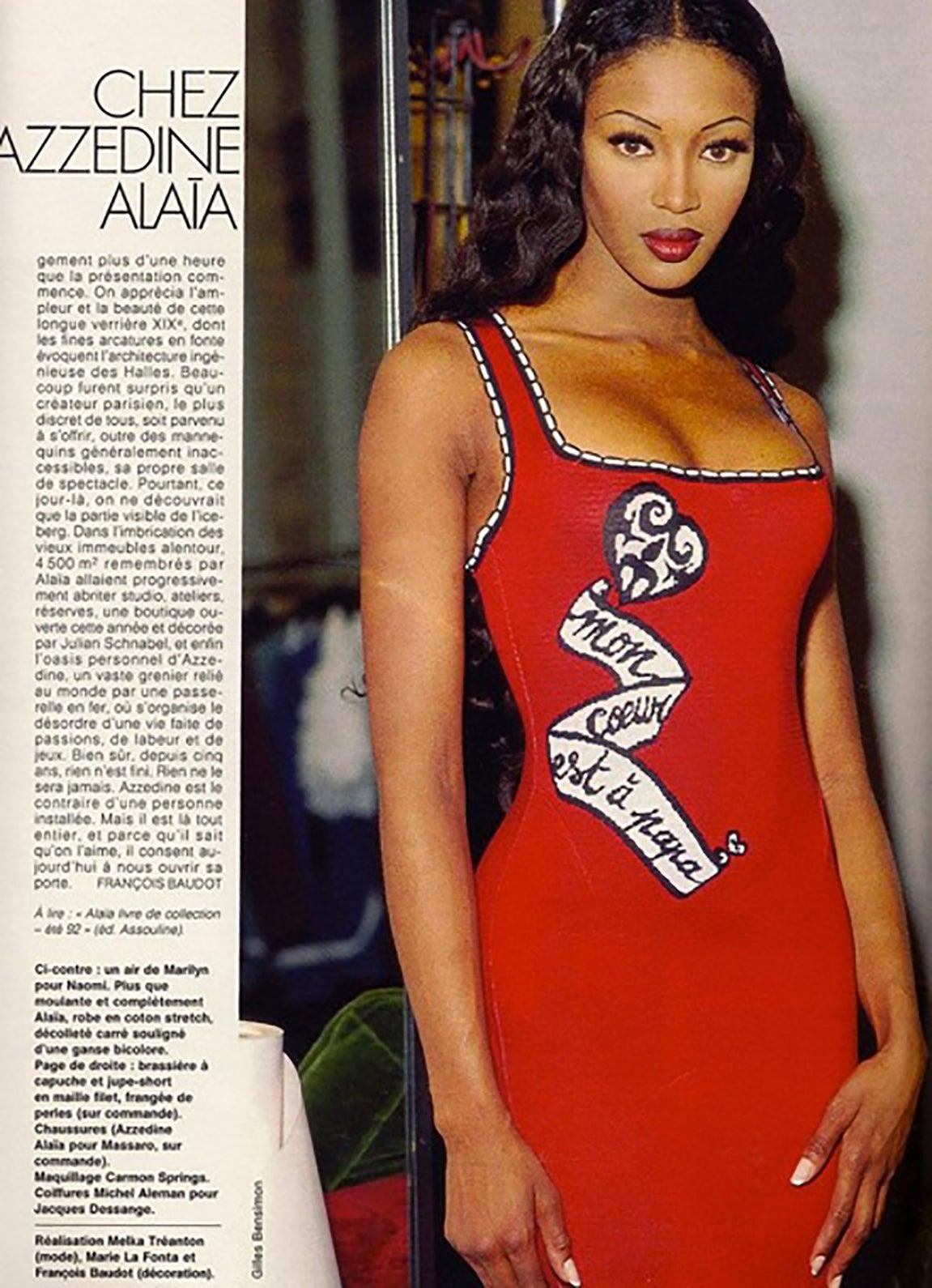 Full Sized Photo of naomi campbell azzedine alaia dress 01 ...  Naomi Campbell Alaia Dress