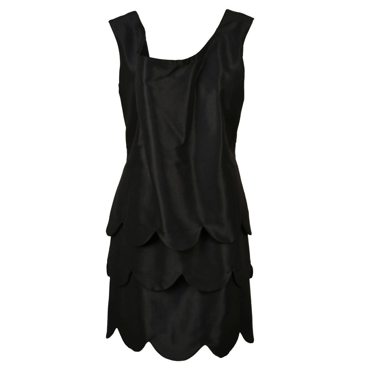 """Comme des Garcons """"pétales de fleurs"""" black layered runway dress, 1995"""