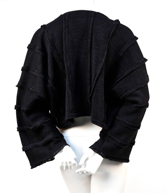 1980's ISSEY MIYAKE charcoal draped sweater 4