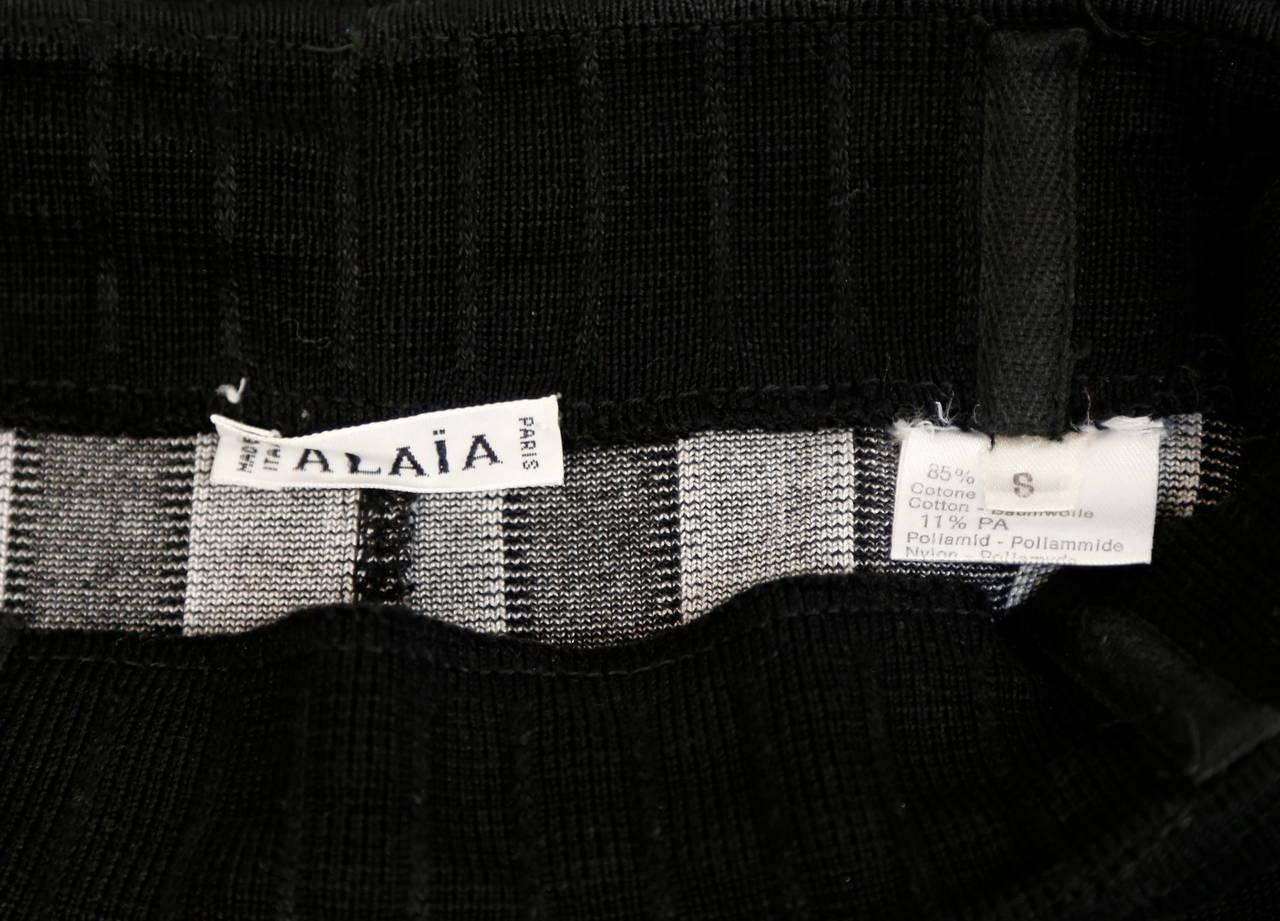 1992 AZZEDINE ALAIA black and white striped skirt 5