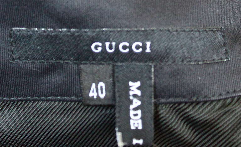 Black 2001 TOM FORD for GUCCI black bustier dress For Sale