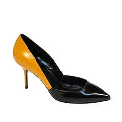 unworn PIERRE HARDY polished leather heels - 38