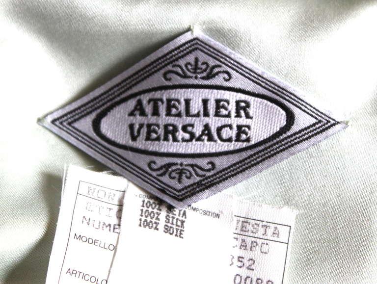 Women's 1993 ATELIER VERSACE couture silk floral mini dress For Sale
